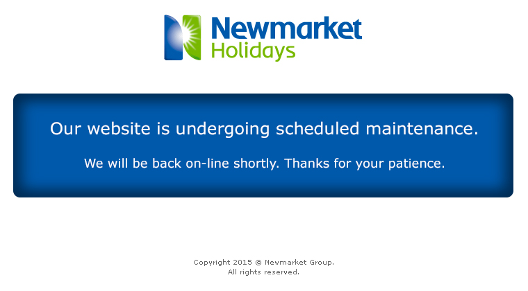 Our website is undergoing scheduled maintenance. We will be back on-line shortly. Thanks for your patience.